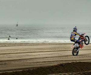 beach, motorcycle, and mx image
