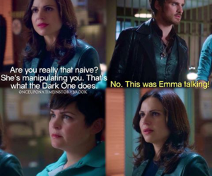 once upon a time, snow white, and captain hook image
