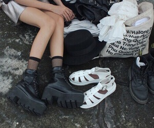 'shoes', 'black', and 'aesthetic' image