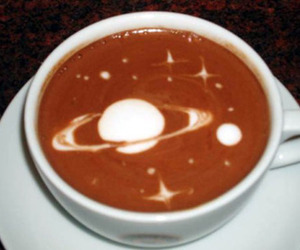 coffee, space, and planet image