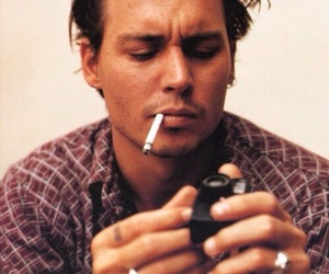 johnny depp, sexy, and cigarette image