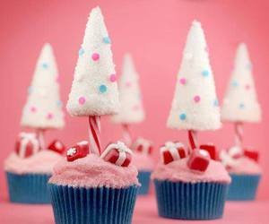 cupcake, christmas, and pink image