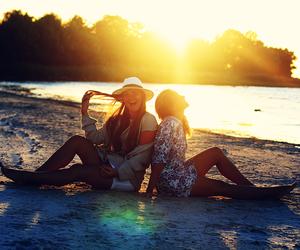 beach, girl, and girls image