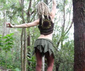 dreads, fashion, and nature image