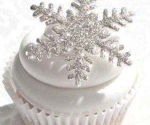 christmas, cupcake, and snowflake image