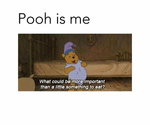food, funny, and pooh image