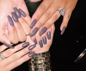 nails, cartier, and kylie jenner image