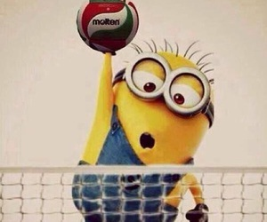 minions, volleyball, and ball image