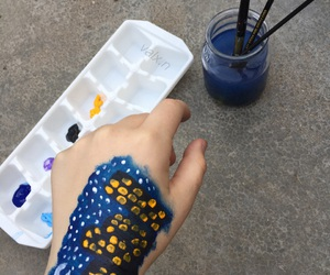 aesthetic, blue, and bodypainting image