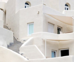 white, building, and Greece image