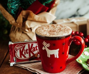 christmas, kitkat, and winter image