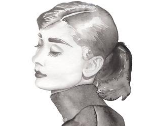 art, audrey hepburn, and black and white image