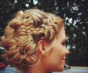 hair, braid, and wedding image