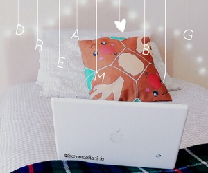 bed, christmas, and girly image