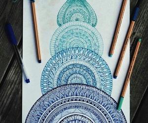 art, mandala, and zentangle image