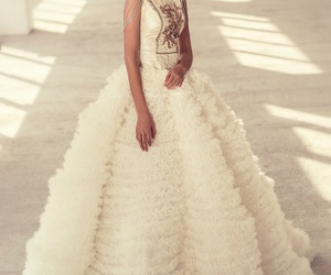 beautiful, bride, and Couture image