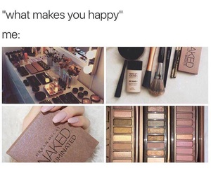 makeup and happy image