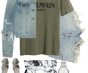 Balmain, fashion, and outfit image
