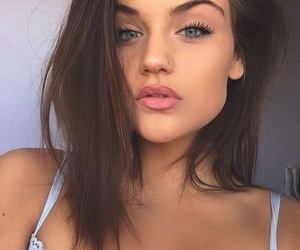 brown hair, goals, and lips image