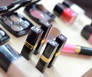 channel, lips, and make up image