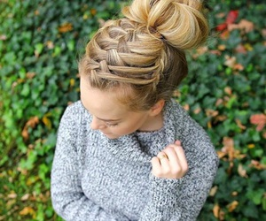 braid, hair, and cute image