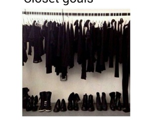 black, clothes, and goals image