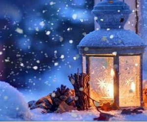 christmas, snow, and candle image
