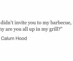 funny, quotes, and calum hood image