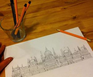 buildings, drawings, and etsy image