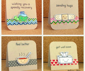 card, get well soon, and gift image
