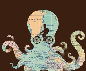 bike, wallpaper, and map image