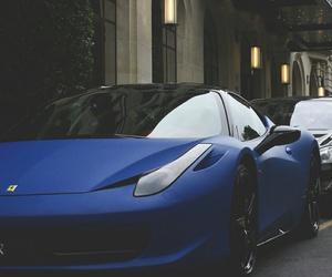 car, blue, and ferrari image