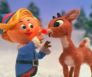 christmas, rudolph, and reindeer image