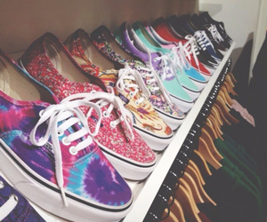 clothes, vans, and shoes image