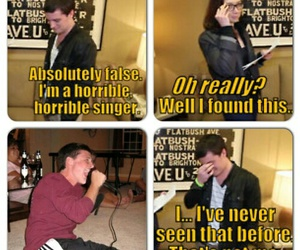 singing, the hunger games, and josh hutcherson image