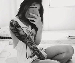 girl and tattos image