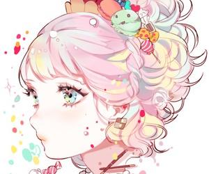 anime, kawaii, and candy image