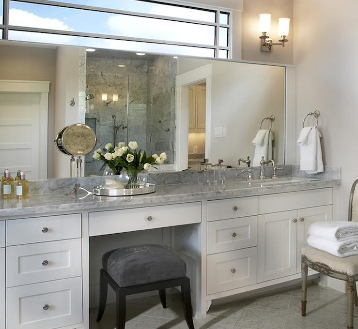 White And Large Bathroom Vanity