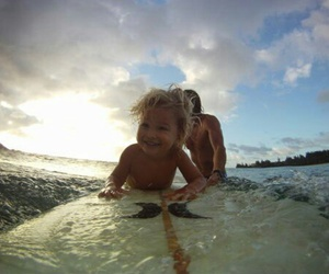 surf, baby, and boy image