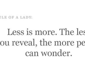lady, quote, and less image