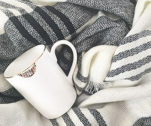 blanket, coffee, and coffee cup image