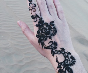 flowers, henna, and simple image