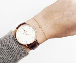 watch, girl, and daniel wellington image