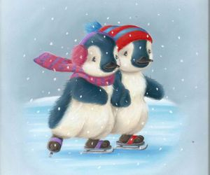 penguins, winter, and penguins love image