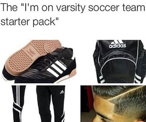 boy, school, and soccer image