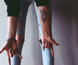arm, tattoo, and love image