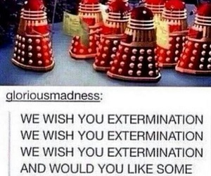 christmas, Dalek, and doctor who image
