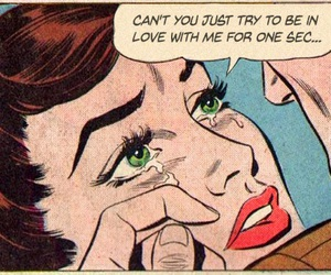 comic, vintage, and sad image