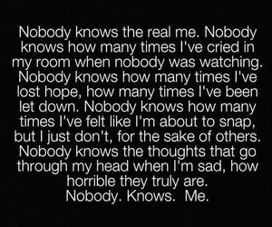 sad, quotes, and nobody image