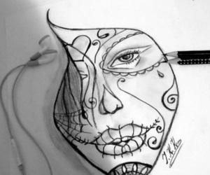 black, deep, and draw image